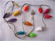 A string of felt lights