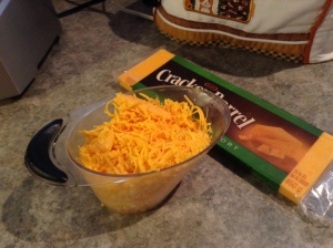 A healthy hit of grated old cheddar